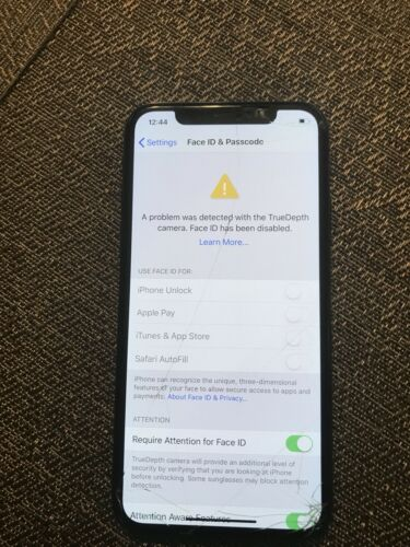 Apple iPhone X - 256GB -(AT&T) Bad Esn. Cracked