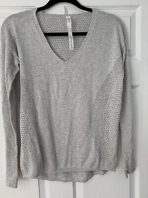 Lulu Lemon Comfy Sweater 6 Light Grey