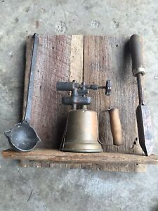Antique Iron/Steel Forger Collection on Barn Wood Display