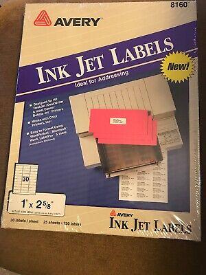 Avery 8160 Easy Peel Mailing Address Labels Inkjet 1 X 2 58 White 750pack 5160