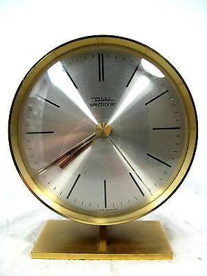 Adjustable 70´s Design table clock DIEHL Tischuhr in working condition  15,5 cm