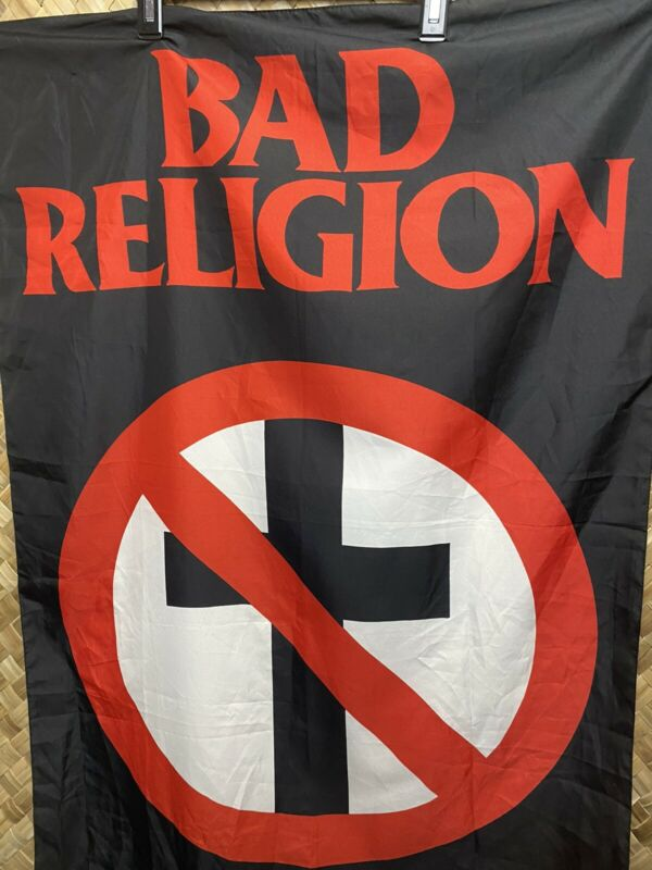 Vintage 1995 Bad Religion Band Crossbuster Classic Buster Fabric Poster Flag