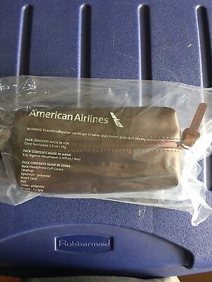 NEW 2018 American Airlines Intl. Business Class Amenity Kit COLE HAAN Chocolate