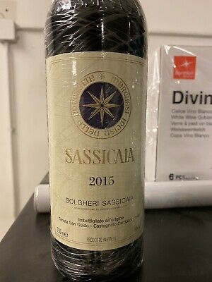 Sassicaia 2015 Best wine worldwide for Wine Spectator 0,75 cl