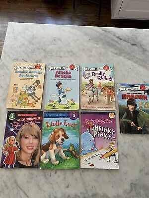 """Lot of 7 """"I Can Read"""" Books Levels 2 & 3: Taylor Swift, Amelia Bedelia & More"""