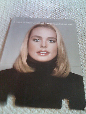 Margaux Hemingway VOGUE Bazaar Magazine FASHION Model 1970's ADVERTISING STANDEE