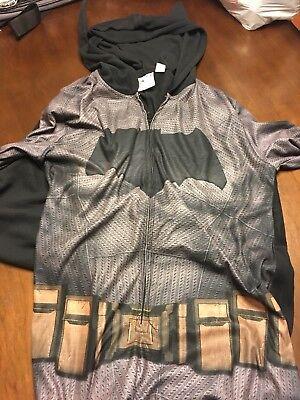 DC Comics Batman V Superman Mens Fleece Hooded Costume Suit Pajamas NEW with tag - Black Superman Suit Costume