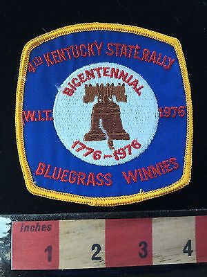 Bicentennial 1976 Winnebago WIT RALLY Kentucky Patch USA Bluegrass Winnies 66WI