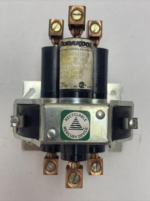 DURAKOOL 3060APS120ACWG CONTACTOR 60AMP 480VAC 48VDC 15HP COIL 120V 50/60HZ