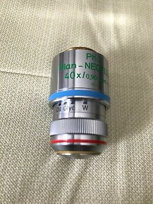 Zeiss Plan Neofluar 40x0.90 Infinity Phase 3 Multiimersion Microscope Objective