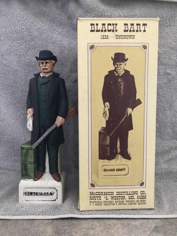 Black Bart decanter, with original box