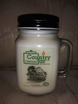 Pink Grapefruit & Geranium Country Jar Candle 100% Natural Soy 100 Hr Burn Time 100 Hr Soy Candle
