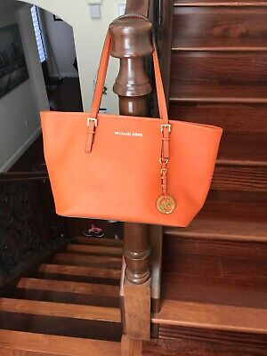 Michael Kors orange Medium leather handbag