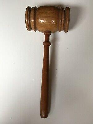 """Vintage Wooden Judge Courtroom 11"""" Gavel Mallet"""