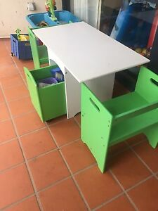 Kids chair and table with storage Canberra City North Canberra Preview