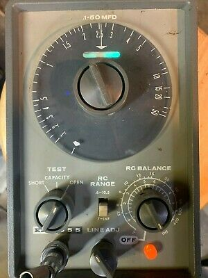 Vintage Eico Model 955 In Or Out Of Circuit Capacitor Tester Magic Eye