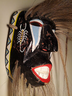 Vintage, Danced, Ethnographic, Yaqui Indian Pascola Dance Mask, Sonora, Mexico