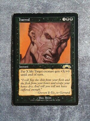 Hatred MP Rare RESERVED LIST Exodus MTG Magic the Gathering Black EDH