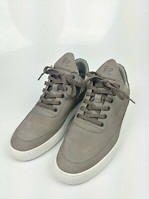 FILLING PIECES 41 LOW TOP RIPPLE NUBUCK SHARK (LEATHER SHOES)