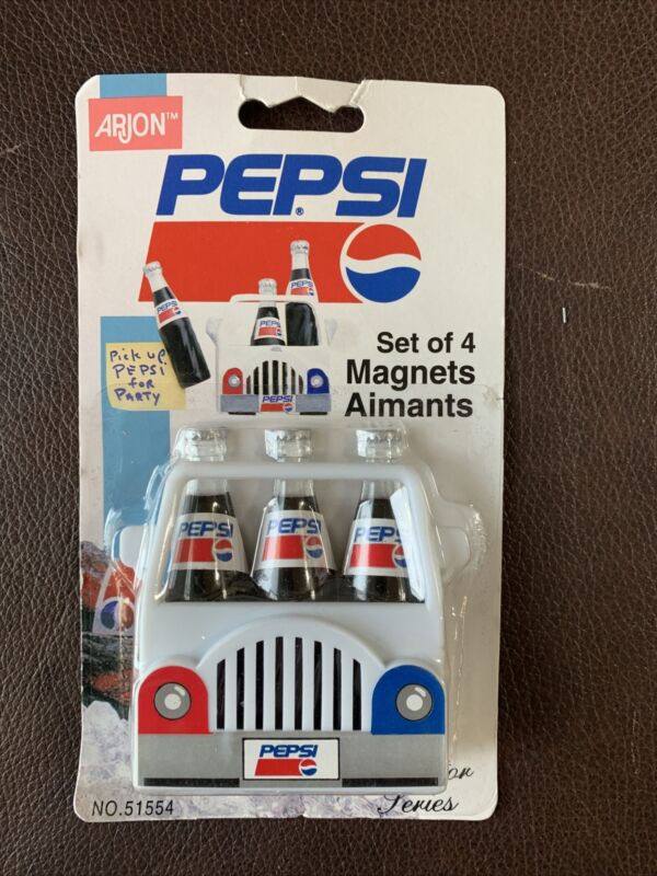 NEW PEPSI SET OF 4 MAGNETS Collector Series No 51554 Arjon