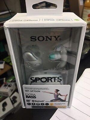 Sony Sp700n True Wireless Noise Canceling Sports In Ear Headphones  White