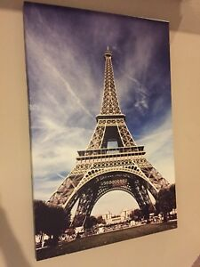 Paris Eiffel Tower Wall Art Canvas