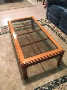 Coffee table and matching side table