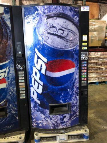 Pepsi Vendo 480-8 Soda Vending Machine W/Bill & Coin Acceptor