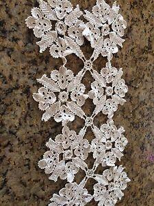 Off white vintage lace