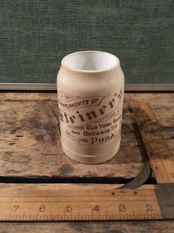 Great Pre Prohibition Beer Mug Steiner