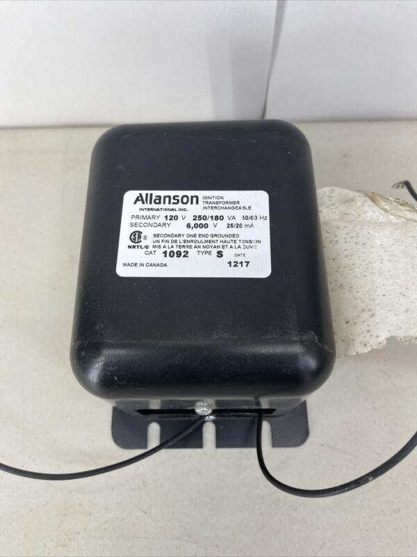 Allanson Ignition Transformer 1092 Type S Pri 120V Sec  600V Unused