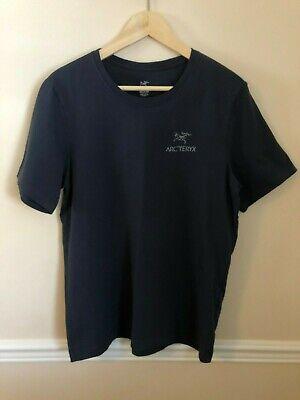 RARE! Arc'teryx Navy Logo T-shirt Sz Medium M Arcteryx Techwear Outerwear Theta