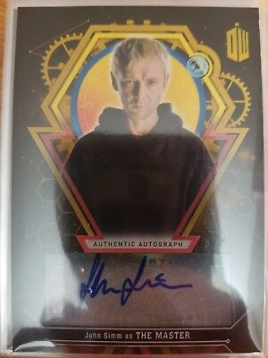 2016 Doctor Who Extraterrestrial Encounter John Simm as The Master GOLD AUTO 1/1
