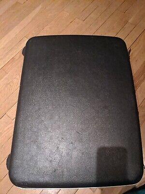 VINTAGE SAMSONITE SILHOUETTE dark grey SHELL TRAVEL SUITCASE LUGGAGE W/key