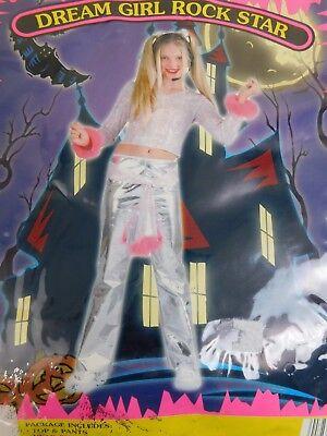 Dream Girl Rock Star Girls Pop Singer Halloween Costume Child XS XSmall - Rock Star Costume Girl