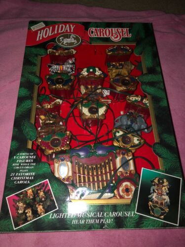 1992 Mr. Christmas Holiday Carousel Lighted Musical with song box