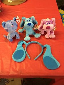 Blues Clues plush toys and ears
