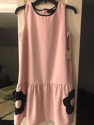 Victoria Beckham For Target Girls Pink Drop Waist Floral Pockets Dress XL