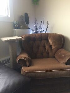 Wicked Comfy Vintage Corduroy Chair