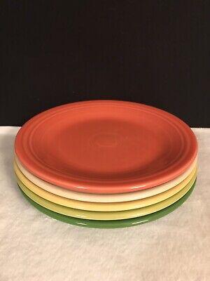 Fiestaware mixed colors Dinner Plate Lot of 5 Fiesta 10.5 Spring Colors -