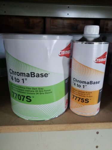 Cromax ChromaBase 4 to 1 7707s 2K Urethane gray Primer Filler Kit axalta