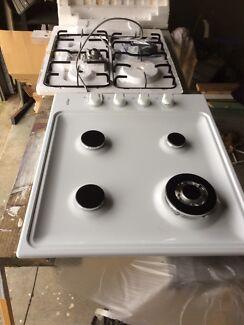 White gas cooktop
