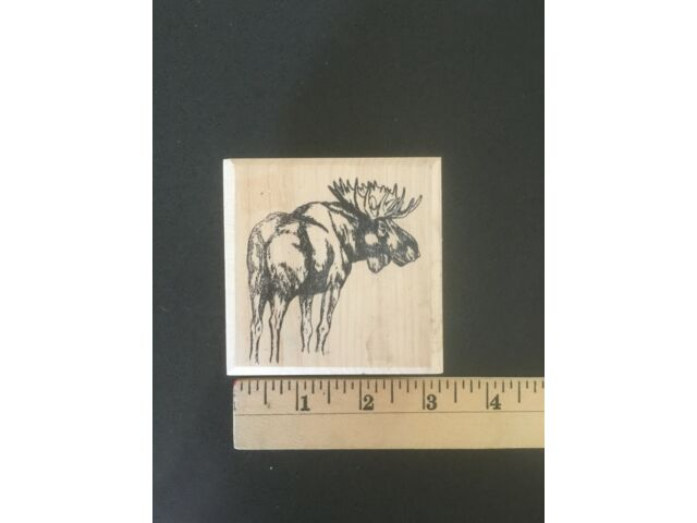 Lot of 8 Rubber Stamps - Wild Animals (Tiger, Moose, Bear, etc.)