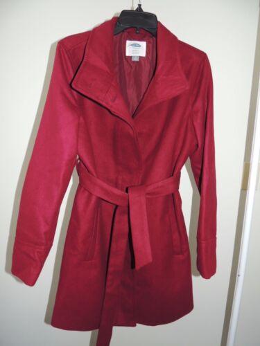 Womens Size Medium * OLD NAVY MATERNITY * Mid-Length Berry Wine Coat NEW Jacket