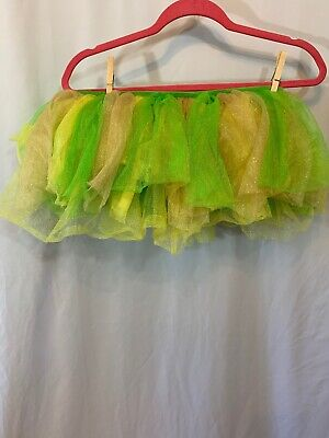 Tinkerbell Adult Costumes (Costumes USA Adult One Size Yellow/ Green TuTu Tinkerbell/)