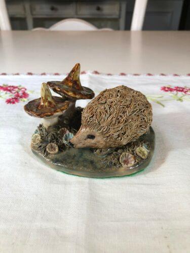 Vintage Hedgehog and Mushroom Figurine, Carrbridge Studio, Scotland