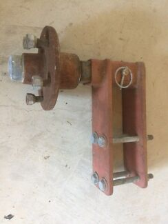 Boat trailer spare wheel bracket