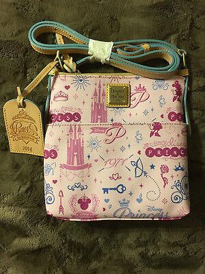 Dooney & Bourke Pink Disney Princess Half Marathon Crossbody Letter Carrier ()