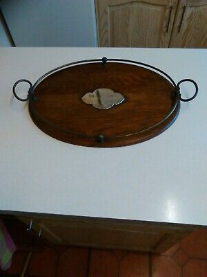 1916 Wooden Oval Presentation Tray with Gallery (2881)