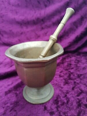 antique bronze pestle and mortar